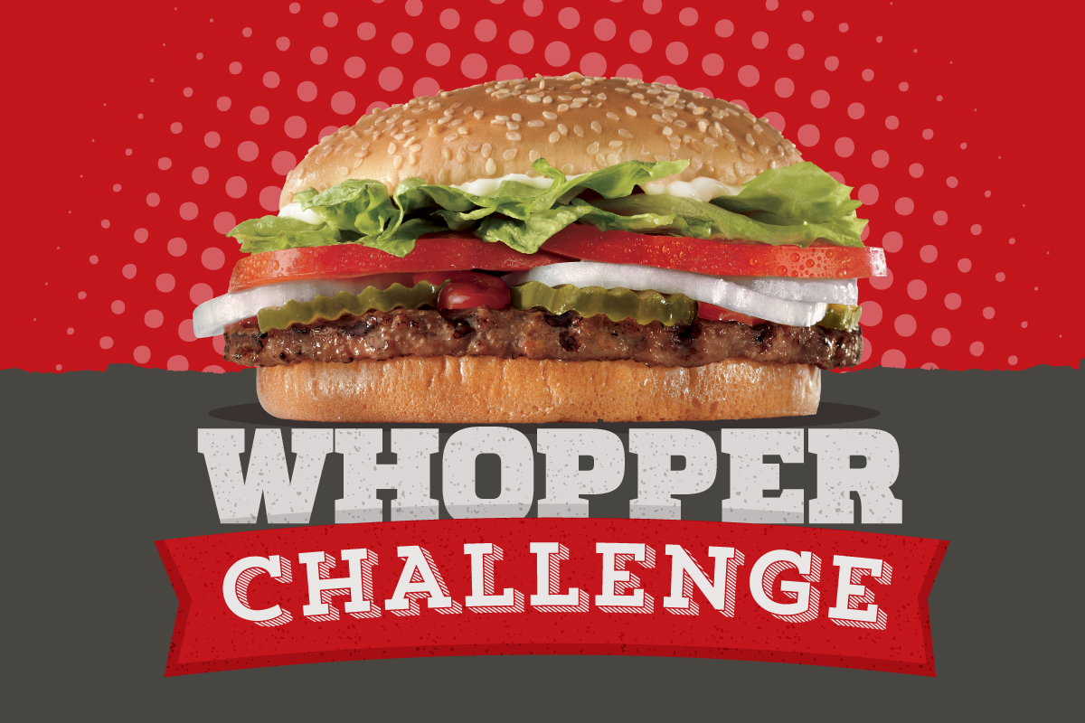 the whopper challenge poster close up