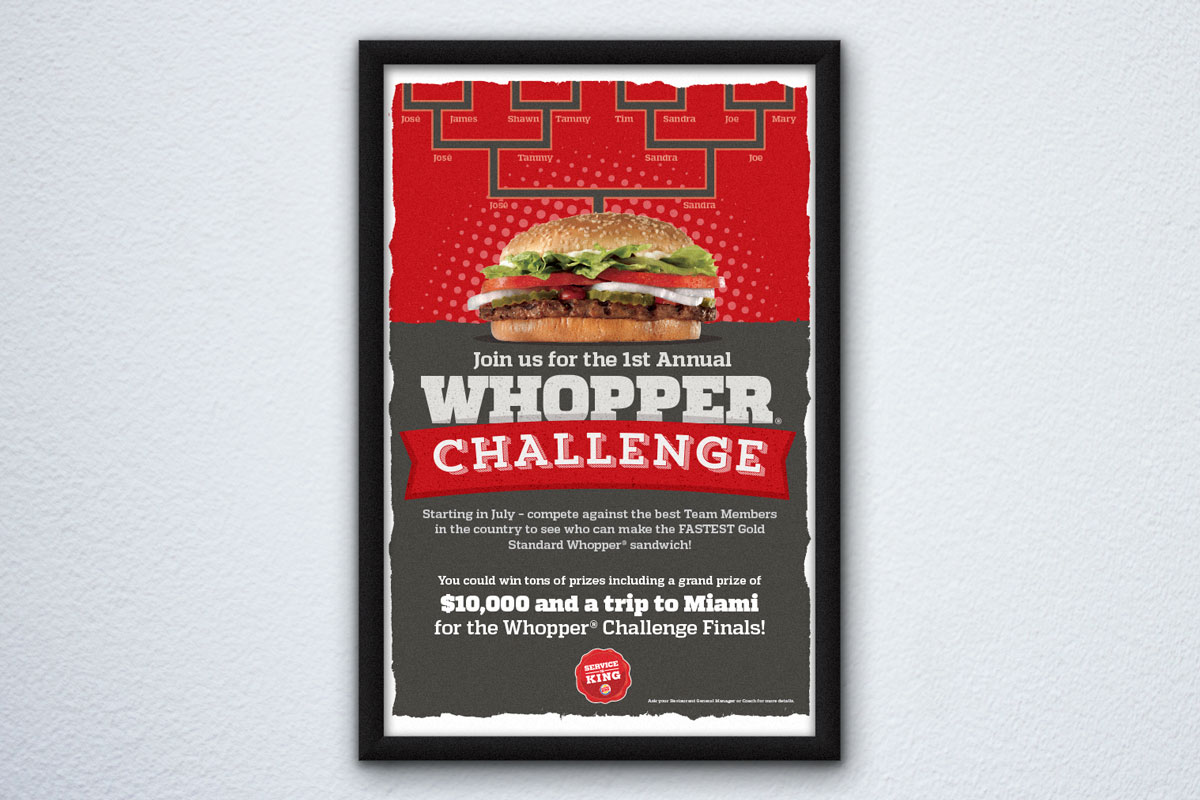 the whopper challenge poster mock up