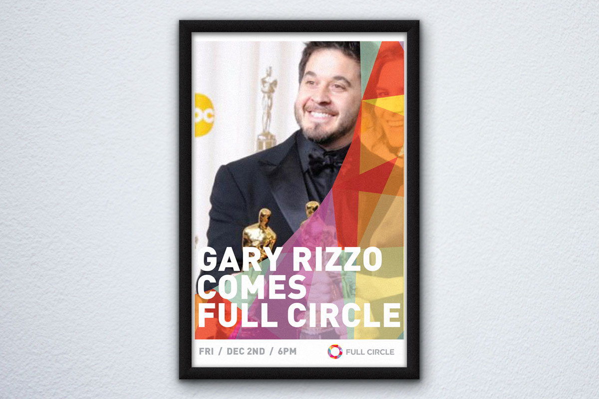 full circle event poster mock up