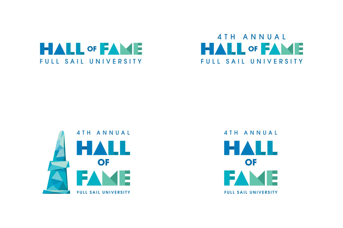 hall of fame logo versions
