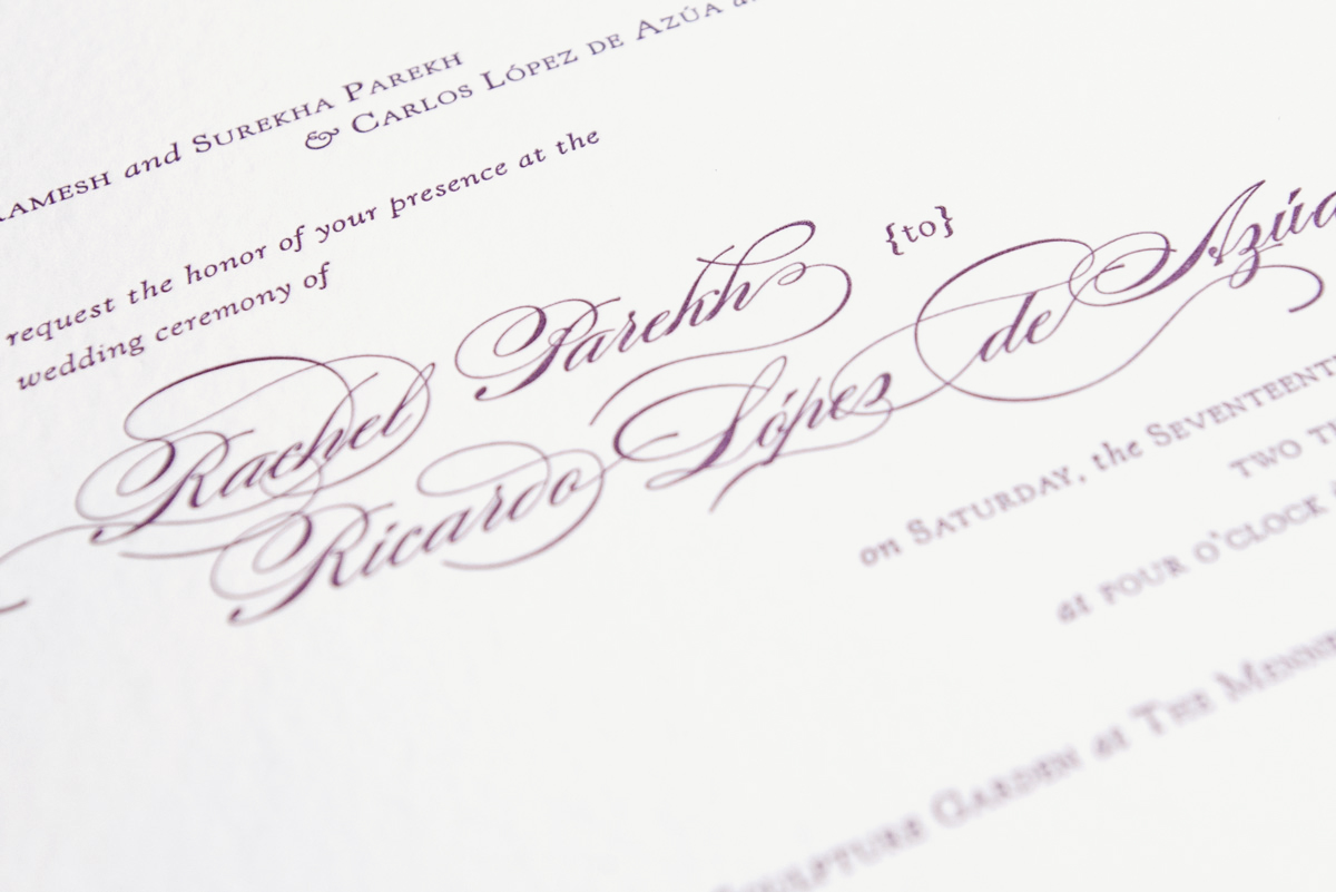 wedding invitation close up