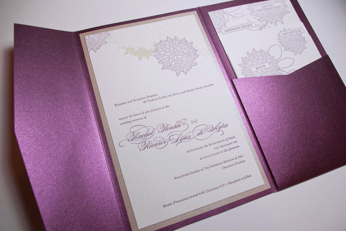 wedding invitation package 2