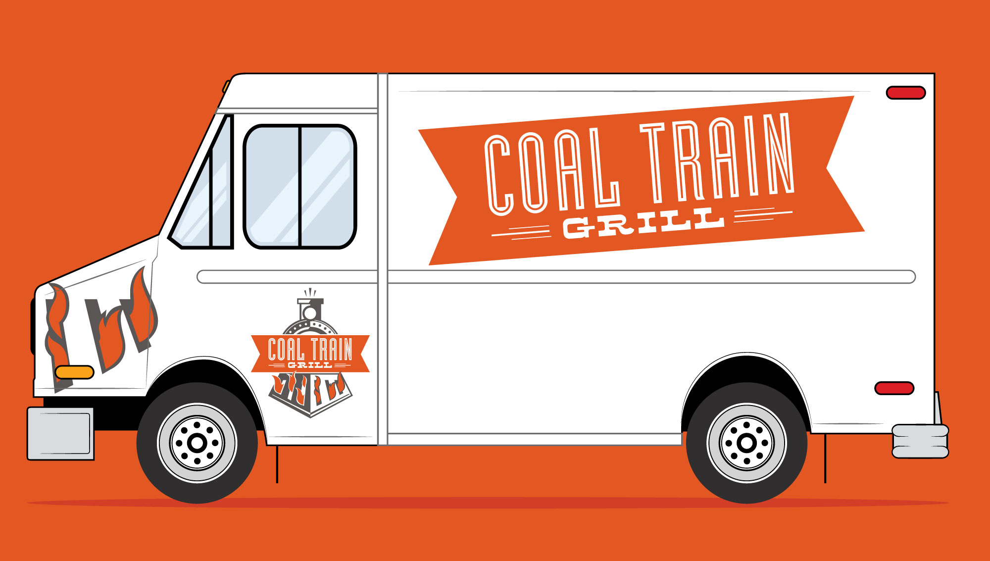 coal train grill food truck mock up