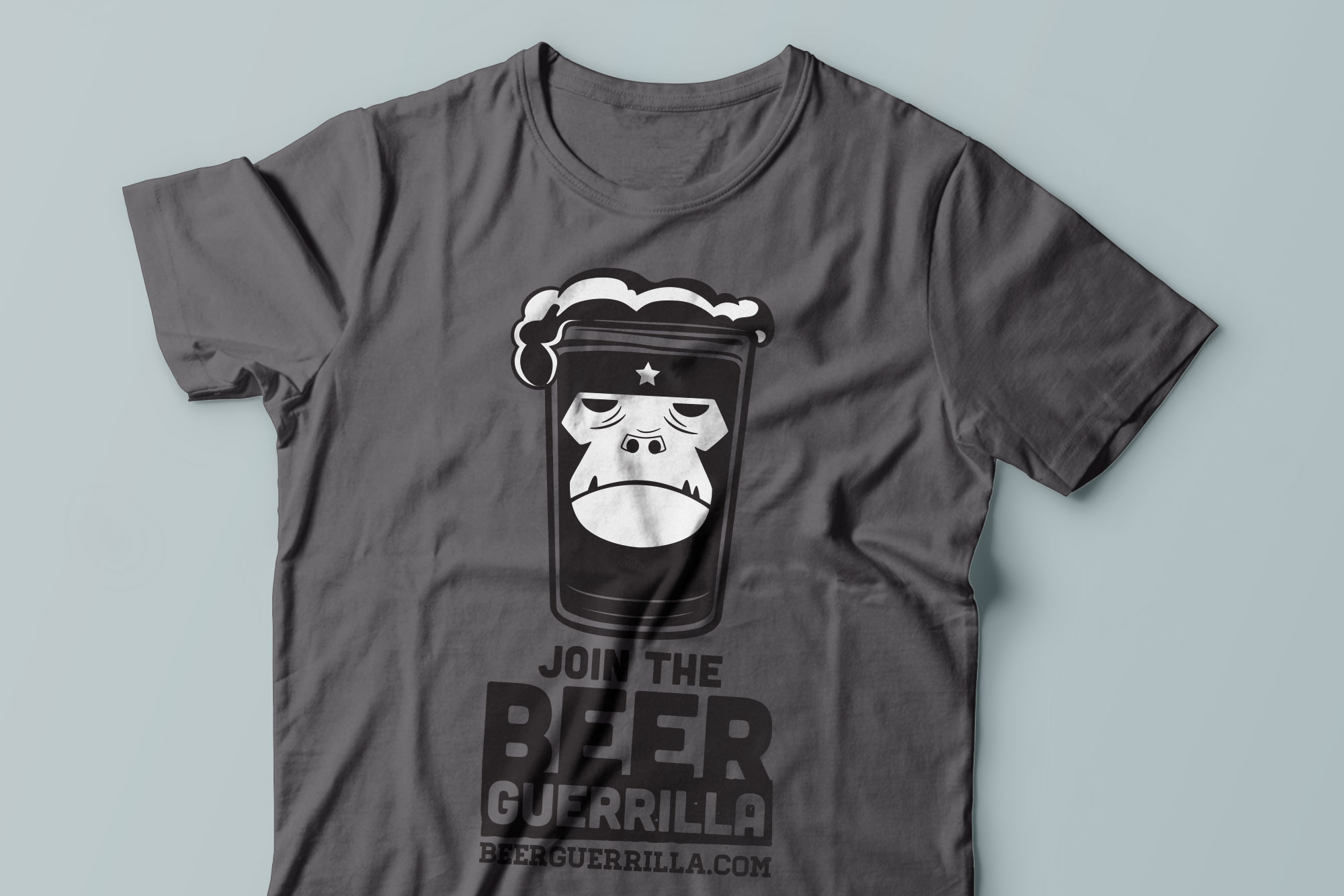 beer guerrilla t-shirt design